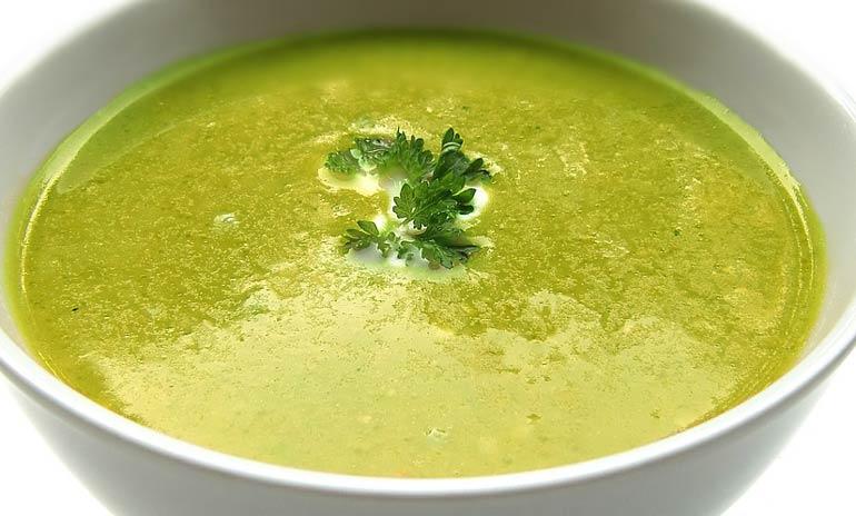 bajo en calorías-sopa-sopa verde