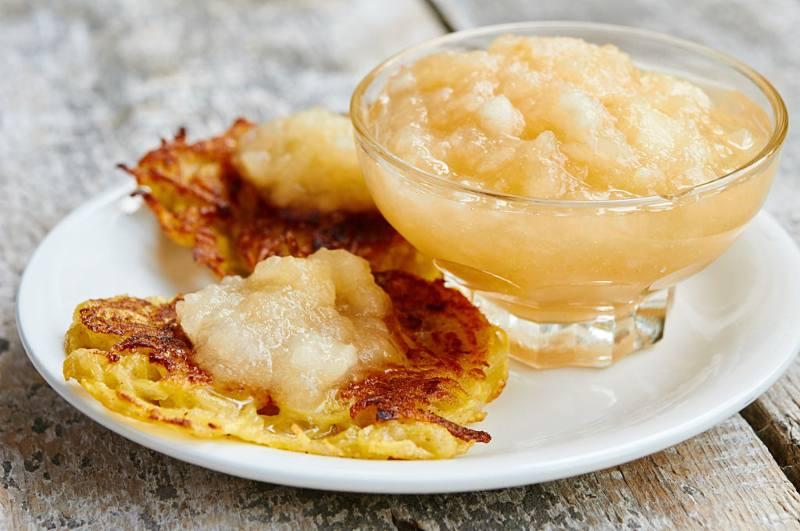 recetas de panqueques con compota de manzana