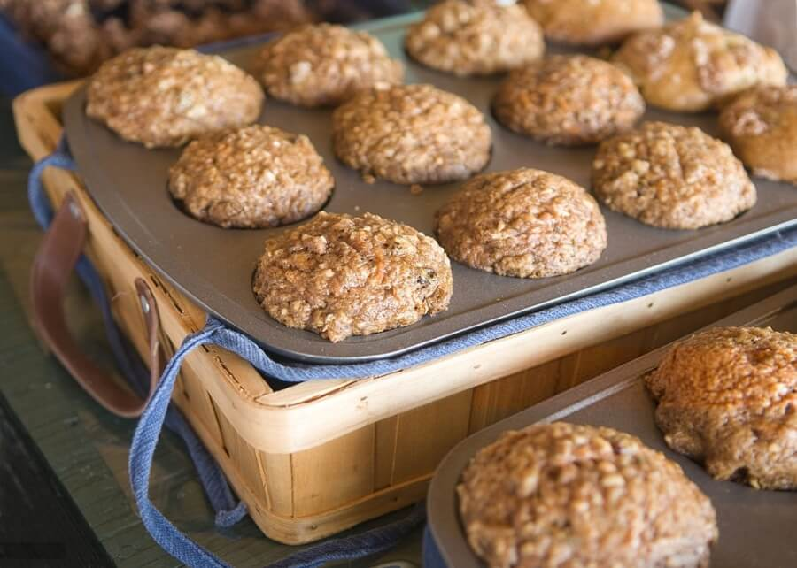 Masa de cupcake de muesli con harina integral