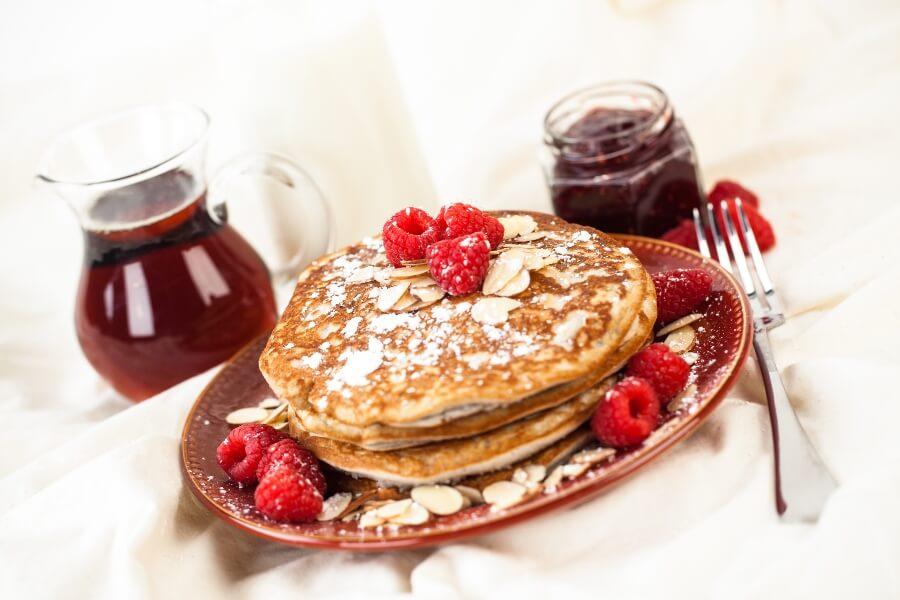 Pancakes integrales con batidora profesioinal