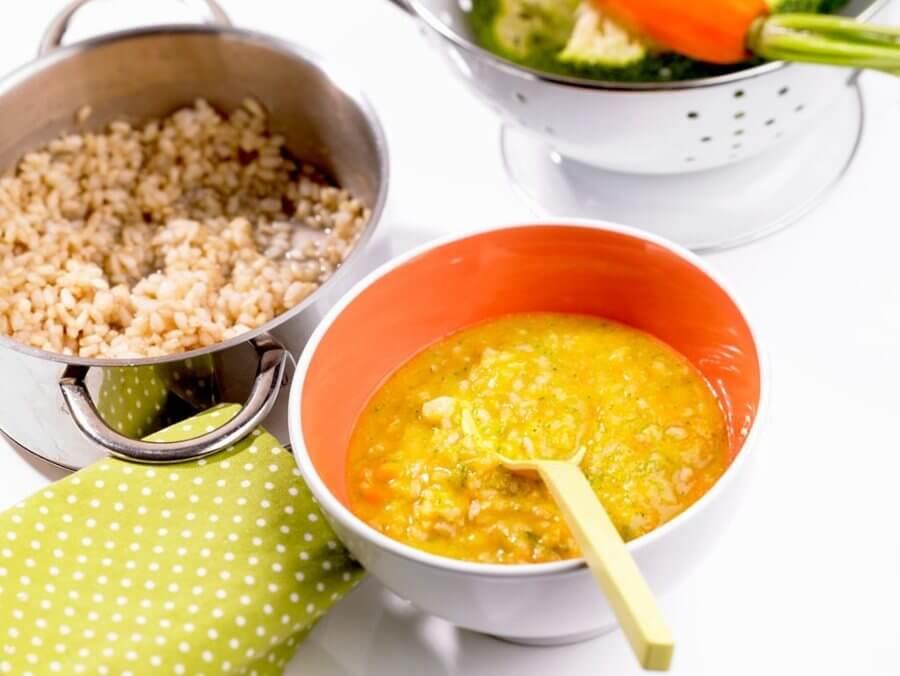 cómo hacer potito de pollo con arroz