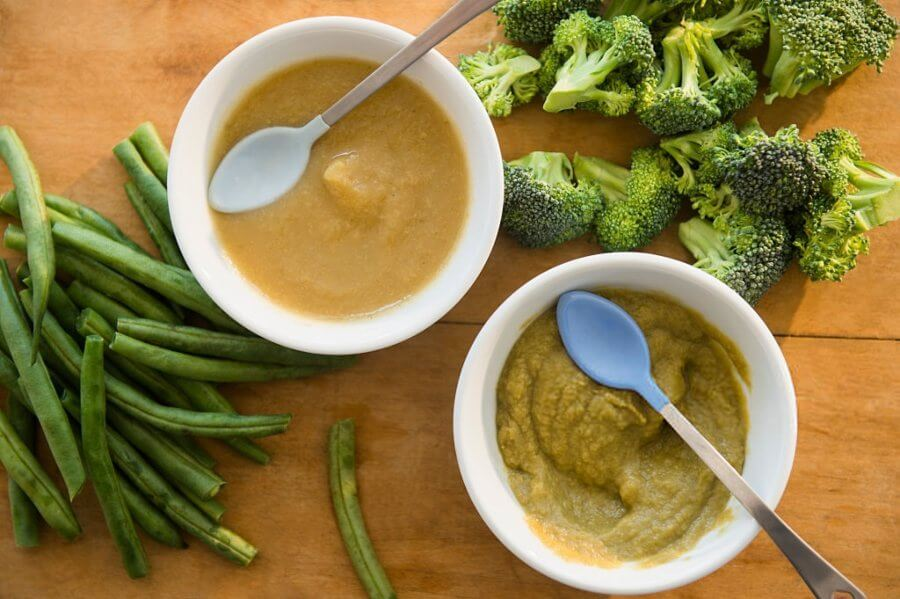 Potito de pollo con verduras